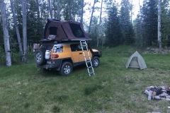 Camping at Prophet Airstrip