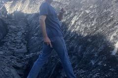 Carl and a glacier