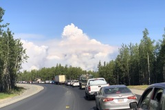 Fire at Swan lake almost closed Sterling Highway