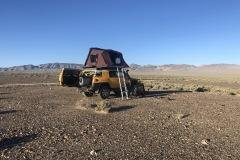 Campsite in the desert