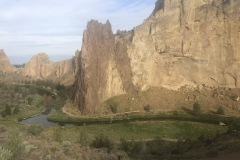 Smith's rock and River