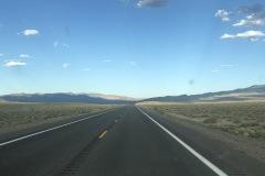 The long strait roads across Nevada