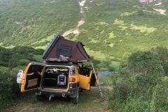 Camping spot above Hope Alaska