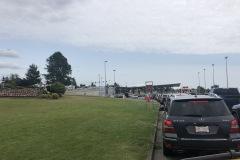 Waiting to cross the USA border