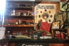 A local outfitter had a nice camping display
